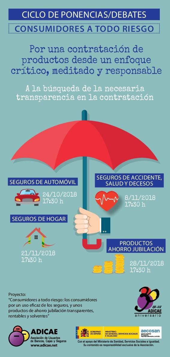 ADICAE inicia este miércoles el ciclo de ponencias sobre la contratación de seguros