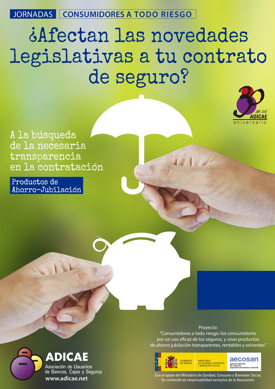 Jornadas de zona ADICAE: ¿afectan las novedades legislativas a tu contrato de seguro?